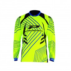Progrip 7010-17 Adult Motocross Shirt Fluorescent-Yellow
